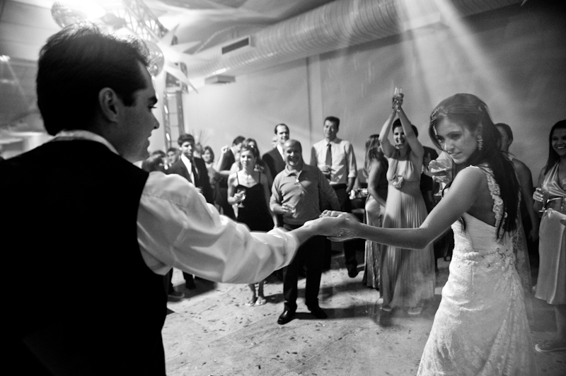 Dancing to a wedding band