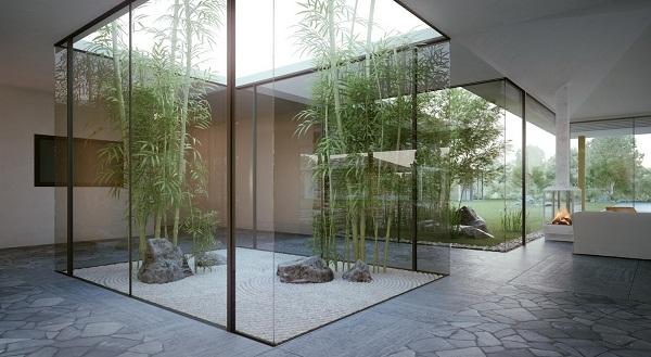 Zen garden house
