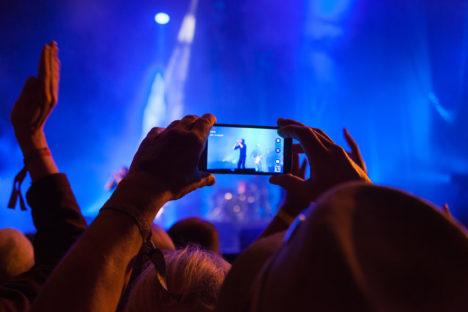 Filming at a Pop Concert