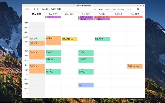 Make your Google Calendar prettier and run it as a desktop application