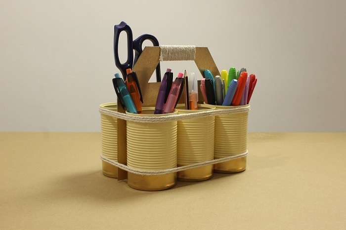 Ideas to start the course How to create a DIY organizer with recycled cans